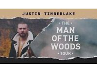4 TICKETS - JUSTIN TIMBERLAKE CONCERT - MANCHESTER ARENA - 01/07/18 1 JULY 2018 - ROW A - FRONT ROW!