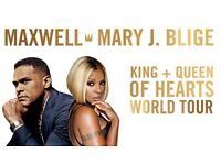 MARY J BLIGE, MAXWELL AND SPECIAL GUESTS @ O2 ARENA 28/10/2016 SEATS CLOSE TO STAGE