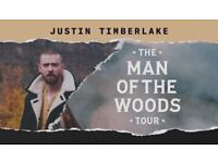2 x Justin Timberlake Tickets - London 02 Arena - Weds 11th July - Lower Tier