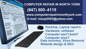 On-site Computer repair services Technician Toronto