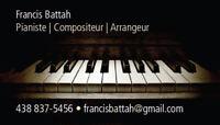 Cours de piano, compo, impro, théorie et/ou solfège 35$/h