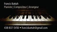 Cours privés de piano, impro, théorie et/ou composition 25$/h
