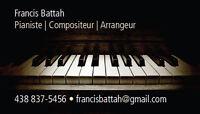 Cours privés de piano, théorie, solfège et/ou composition 30$/h
