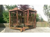 Vintage Reclaimed Custom Made Regal Lantern Wall Planters Garden Architecture