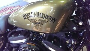 Sportster Iron/48 tank swap Olive Gold