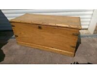 Antique Wooden Chest Blanket Box Antique Ships Chest Antique Coffee Table