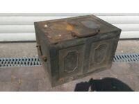Antique cast iron safe cast iron strong box cast iron ships chest Antique Prop