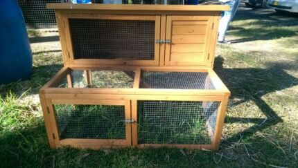 RABBIT GUINEA PIG HUTCH & RUN START UPDEAL FOOD OAT HAY & MORE Londonderry Penrith Area Preview