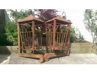 Vintage Reclaimed Custom Made Regal Lantern Wall Planters Garden Architecture