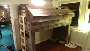 CUSTOM BARN BOARD BUNK BED with LEDs ...1K O>B>O