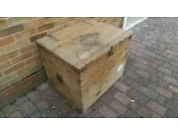 Vintage Wooden Chest Industrial Trunk Military Travel Trunk Wooden Storage Chest