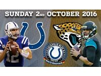 2 x Indianapolis Colts v Jacksonville Jaguars tickets - Wembley