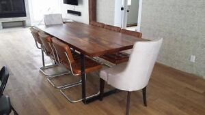 TABLE DE CUISINE SUR MESURE 100% DE BOIS West Island Greater Montréal image 4