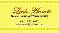House Cleaner/House Sitter Available