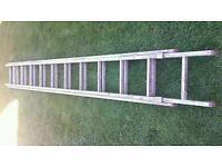 Silver Aluminum ladders Used