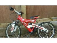 Boys red bike 20 inch