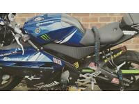 Yamaha yzf r125 blue n black 2012