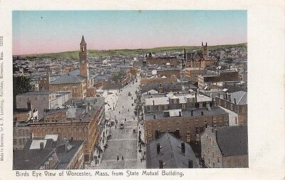 Antique POSTCARD c1904-07 Birds Eye View from State Mutual WORCESTER MA 13158