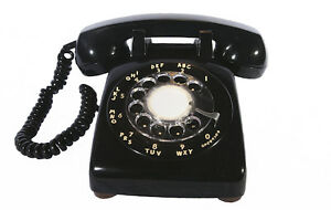 Rotary Dial Telephone (Black, Brown)