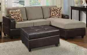 Brand New Micro Suede 3 Seat Chaise Sofa FREE Ottoman Bayswater Bayswater Area Preview