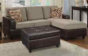 BRAND NEW MICRO SUEDE CHAISE SOFA & OTTOMAN ONLY $849 Bayswater Bayswater Area Preview
