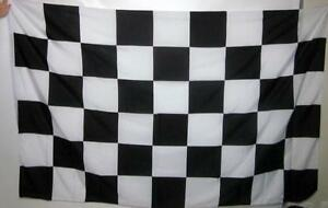 LARGE CHECKERED FLAG BLACK AND WHITE CHEQUERED FLAG MOTOR RACING GRAND PRIX