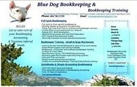 BLUEDOG BOOKKEEPING & TRAINING SIMPLY ACCOUNTING QUICKBOOKSO TAX