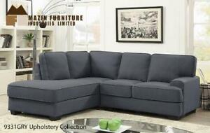 Grey Fabric Sectional Sale (MA793)