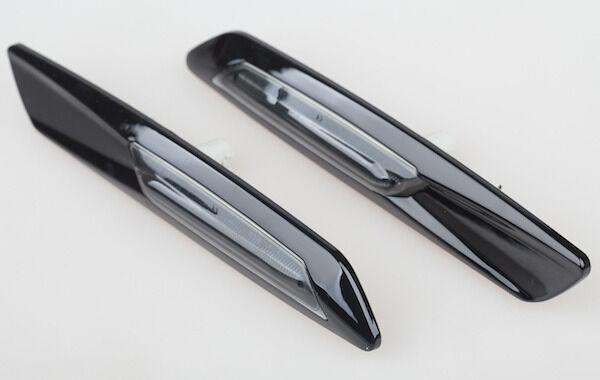 2x Black F10 Style Amber Switchback 18 LED Light Side Marker Lamps For BMW Honda