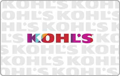 Kohl's Gift Card $25 $50 $100 - mail delivery