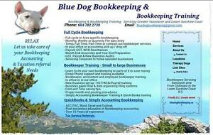 BLUEDOG BOOKKEEPING & TRAINING QUICKBOOKS SIMPLY ACCOUNTING TAX