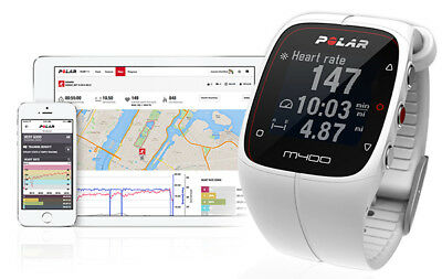 Polar M400 Gps Smart Sports Watch Compatible With Heart Rate Monitor  White