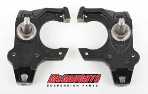 Mcgaughys 6570 Chevy Impala Front 2 inch Drop Spindles W/ Disc 1965 66 67 68 69