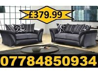 3+2 NEW FABRIC 3+2 SOFA IN BLACK AND SILVER