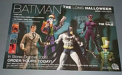 Batman the Long Halloween figure promo poster:Joker/Catwoman/Mad Hatter/Two-Face - Long Halloween Two Face Figure