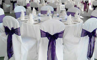 Beautiful chair cover rentals