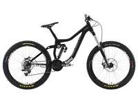 KONA ENTOURAGE 2014 DOWNHILL MTB MOUNTAIN BIKE FULL SUSPENSION