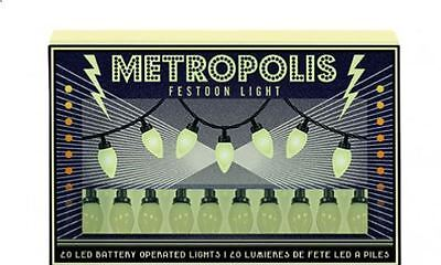 set of 20 LED vintage retro festoon style METROPOLIS party decorative lights