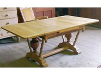 Antique Table ( Fully Extended In Photos)