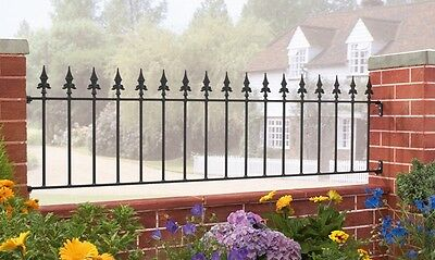 450mm SPEAR TOP WROUGHT IRON METAL FENCING/RAILINGS PANEL