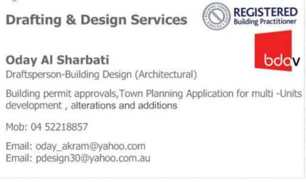 Drafting ,building permit & town planning application