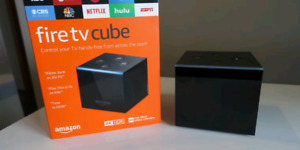 New Amazon Fire tv cube with alexa and New Mx Air mouse