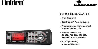 Uniden BearTracker BCT15X Police Scanner TrunkTracker Base Mobile Radio Fire EMS