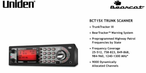 Uniden BearTracker BCT15X Police Scanner TrunkTracker Base Mobile Radio Fire EMS