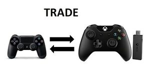 TRADING PS4 Controller FOR Xbox 1 Controller + Wireless Adapter