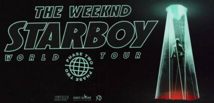x4 The Weeknd V.I.P StarBoy Hot Seat Tickets Sydney