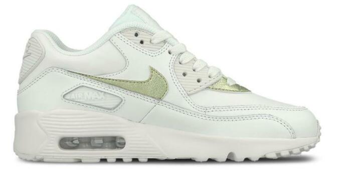 e50aae314af Nike Air Max 90 Leather GS 833376-103 Wit-37.5 | 2dehands.be