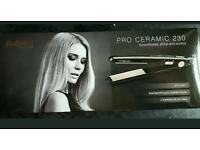 BaByliss Pro Ceramic 230 straightners in box