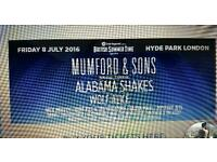 MUMFORD AND SONS TICKET