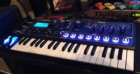 NOVATION MININOVA SYNTHESIZER KEYBOARD-ALMOST NEW AND ALESIS ELEVATE 3 SPEAKERS-PAIR
